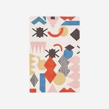 MTO Roar + Rabbit x Diego Olivero Shape Collage Rug, Multi, 6x9 - West Elm