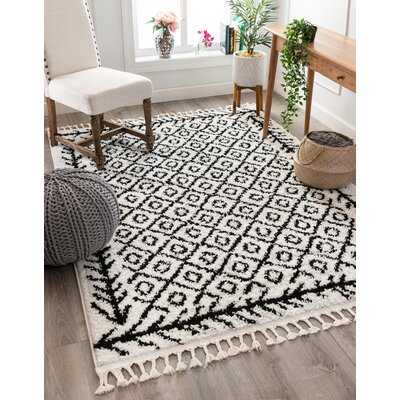 Cabana Agata Moroccan Black/White Area Rug - Wayfair