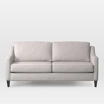 Paidge Sofa, Poly, Twill, Wheat, Cone Pecan - West Elm