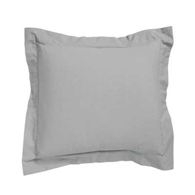 Classic Mineral Gray Percale Euro Sham - Home Depot