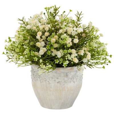 11 in. H Cream Mixed Mini Daisy Silk Plant (Indoor/Outdoor) - Home Depot
