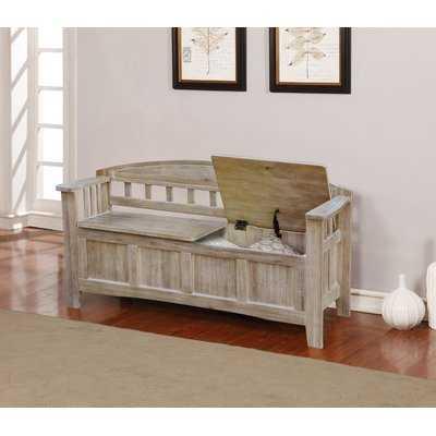 Apruva Wood Storage Bench - Wayfair