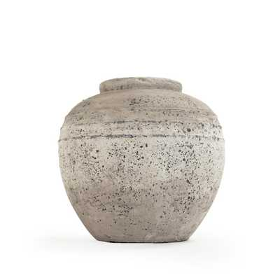 Zentique Stone-Like Terracotta Taupe Large Decorative Vase, Brown - Home Depot