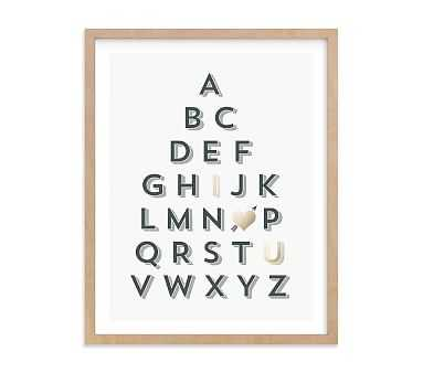 ABC love Wall Art by Minted(R) 11x14, Natural - Pottery Barn Kids