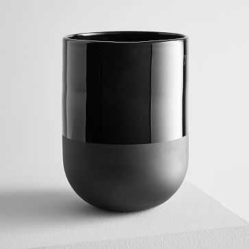 Two Tone Black Glass, Large - West Elm