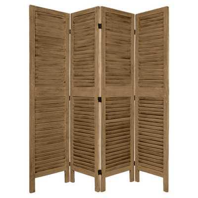 5 1/2 ft. Tall Classic Venetian Room Divider (4 Panel), Gray - Target