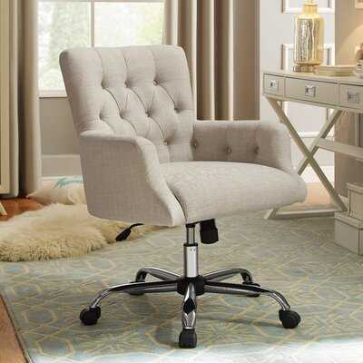 Zahra Swivel Executive Chair / Ivory - Wayfair