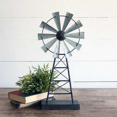 Boutwell Windmill Table Sculpture - Wayfair