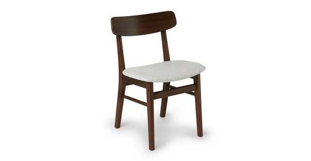 Ecole Mist Gray Walnut Dining Chair- Set of 2 - Article