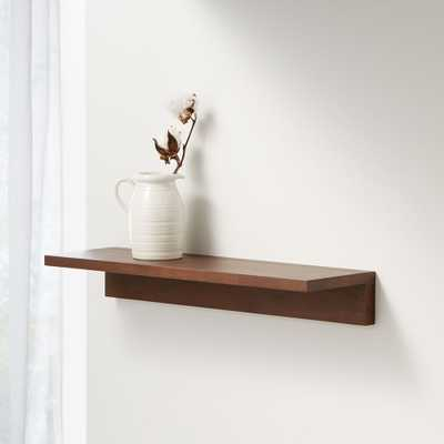 "Carren 24"" Floating Walnut Ledge Shelf - Crate and Barrel"