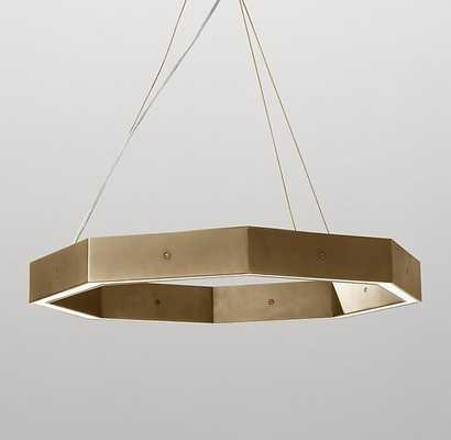 ORSON 24 INCH PENDANT - LIGHT AGED BRASS - RH Baby & Child