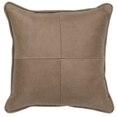 Valiant Leather Throw Pillow - Wayfair