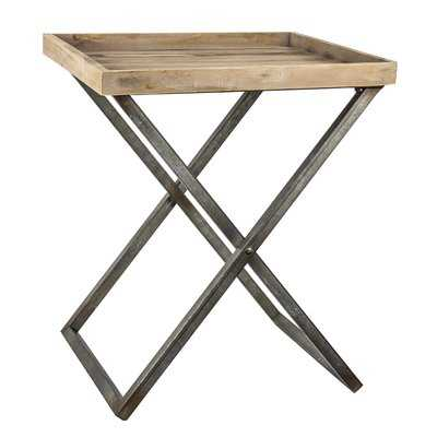 Delicia Decor Wood and Metal Folding Card Tray Table - Wayfair
