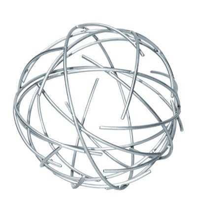 Kylan Metal Sphere with Broken Rings Sculpture - Wayfair