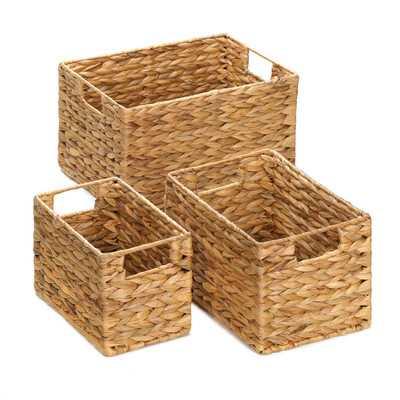 3 Piece Husk Nesting Basket Set - Wayfair