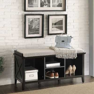 Callie Wood Storage Bench - Wayfair