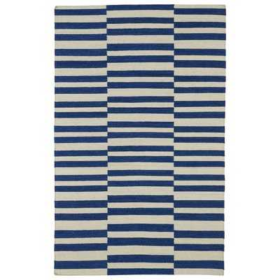 Cory Geometric Navy/Ivory Area Rug - Wayfair