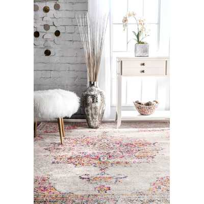 Darchelle Beige/Pink Area Rug - Wayfair