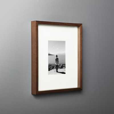 Gallery Walnut Frame with White Mat 4x6 - CB2