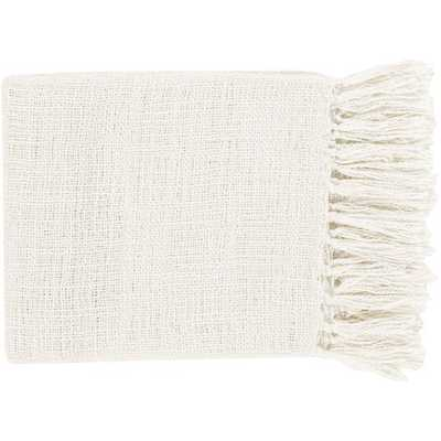 Alden Throw Blanket, White - Cove Goods
