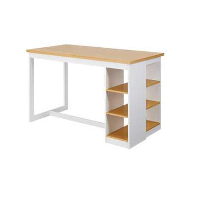 Progressive Furniture Christy Oak/White (Brown/White) Counter Storage Table - Home Depot