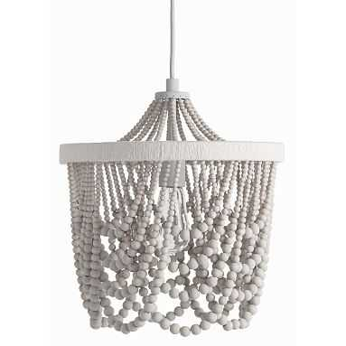 Draped Bead Chandelier, Gray - Pottery Barn Teen