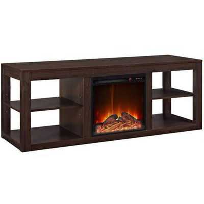 Y-Décor 19 Wide Electric Fireplace Insert and Lightbrown Cabinet, Brown - Home Depot