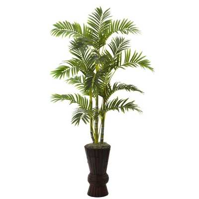 62 in. Areca Tree with Decorative Planter - Home Depot