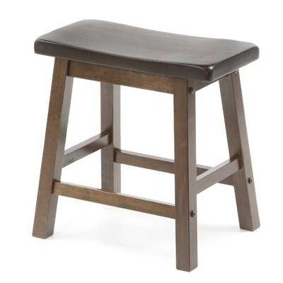 "Bates 18"" Wood Bar Stool (Set of 2) - Wayfair"