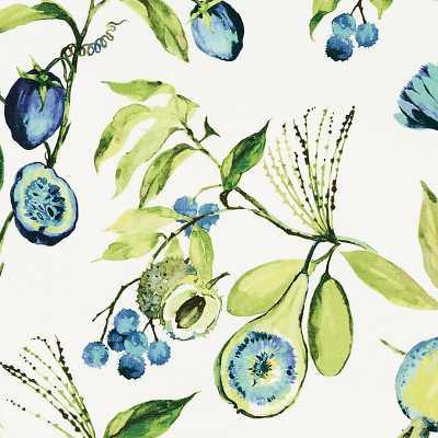 Alana Blue Fabric By The Yard   - Ballard Designs - Ballard Designs