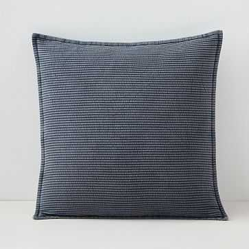 "Solid Ribbed Pillow Cover, 20""x20"", Iron Gate - West Elm"