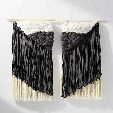 Sunwoven Asymmetrical Wall Hanging, Pair - West Elm