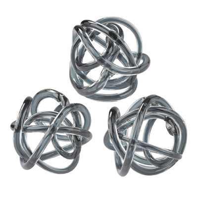 3 Piece Glass Knot Sculpture Set - Birch Lane