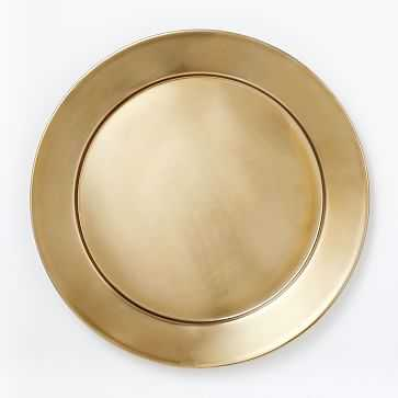 Metal Charger, Gold - West Elm