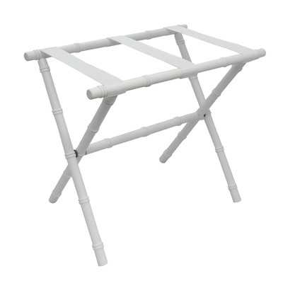 Nylon Series Bamboo Inspired Straight Leg Luggage Rack - Birch Lane