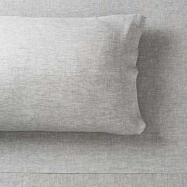 Belgian Linen Sheet Set, Full, Flagstone - Pottery Barn Teen