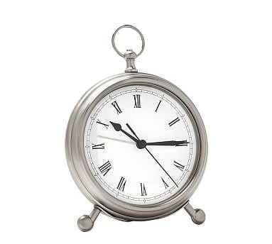 Pocket Watch Clock, Medium, Pewter finish - Pottery Barn