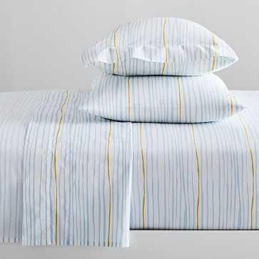 Organic Multi Stripe Sheet Set, Full, Multi - West Elm