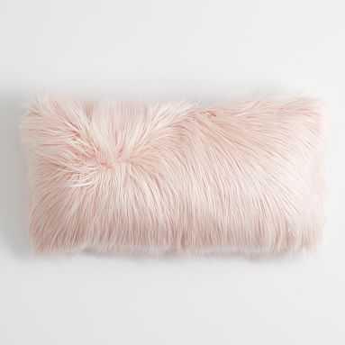 """Furrific Lumbar Pillow Cover, 12""""x24"""", Himalayan Blush - Pottery Barn Teen"""