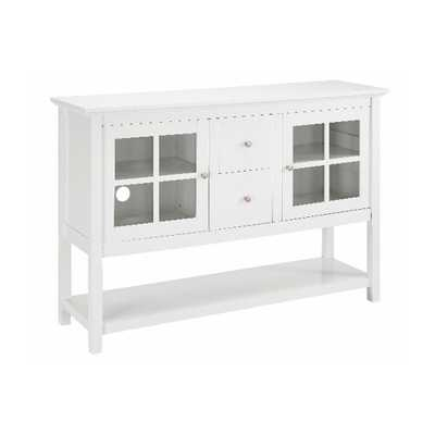 White Buffet with Storage - Home Depot