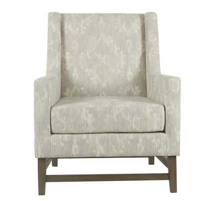 Distressed Gray Damask Peyton Accent Chair - Home Depot