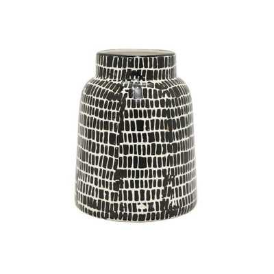 Decorative Black and White Ceramic Vase, Blacks - Home Depot
