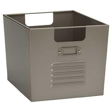 Locker Bin, Set of Two, Large, Silver - Pottery Barn Teen