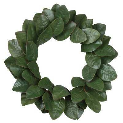 "Magnolia Leaf 20"" Plastic Wreath - Birch Lane"