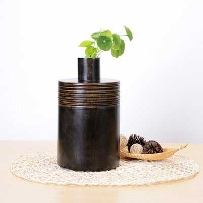 Daphine Decorative Mango Wood Jar - Wayfair