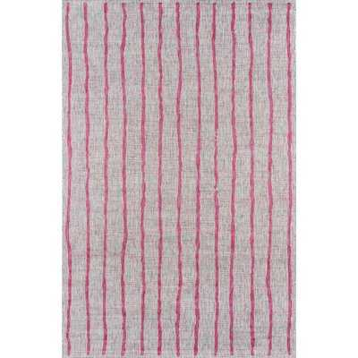 Sicily Striped Fuschia Indoor/Outdoor Area Rug - AllModern