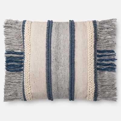 PILLOWS - BLUE / MULTI - Magnolia Home by Joana Gaines Crafted by Loloi Rugs
