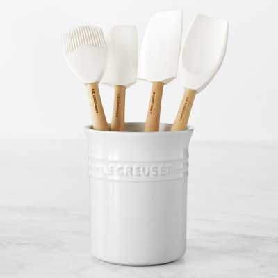 Le Creuset 5-Piece Utensil Set with Crock, White - Williams Sonoma