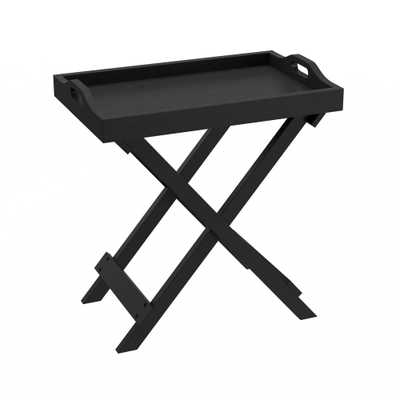 End Table with Removable Tray Top Black - Lavish Home - Target