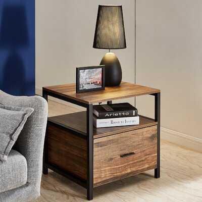 Ludie End Table with Storage - Wayfair